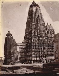 View of the Parsvanatha and Adinatha Temples, Khajuraho